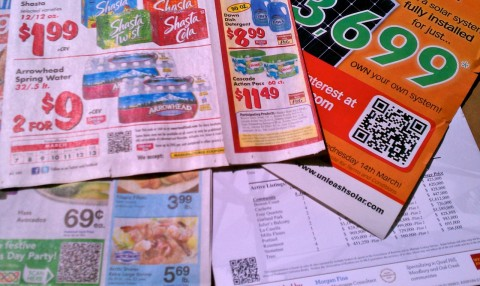 4 Mailers with QR Codes in them