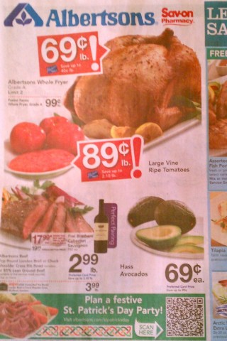 Another flyer for Albertsons with a QR Code in it