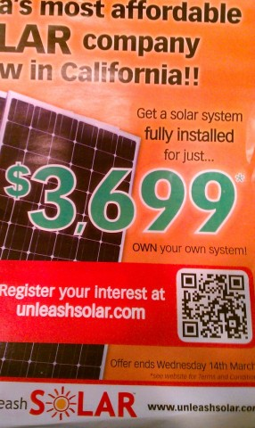 Flyer for Unleashsolar with QR Code