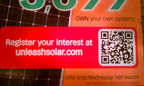 Unleashsolar QR Code Up Close